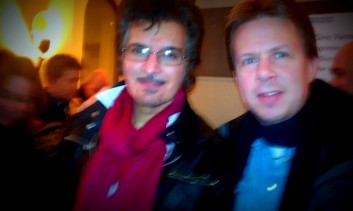 Gino Vannelli and me.