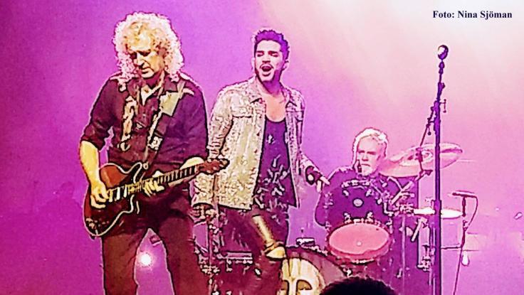 Queen, O2-arena, London. Foto: Nina Sjöman.
